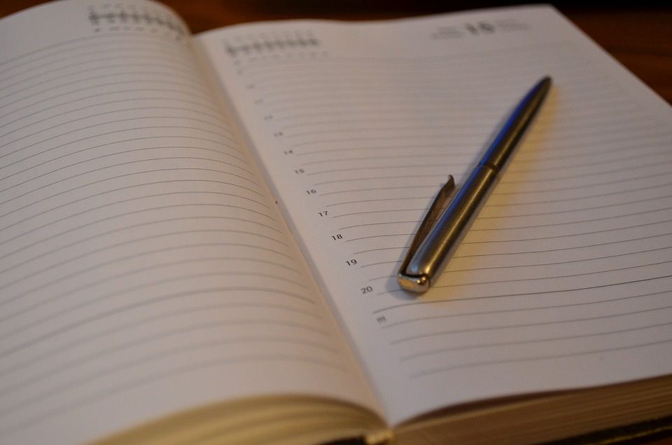 picture of a work diary