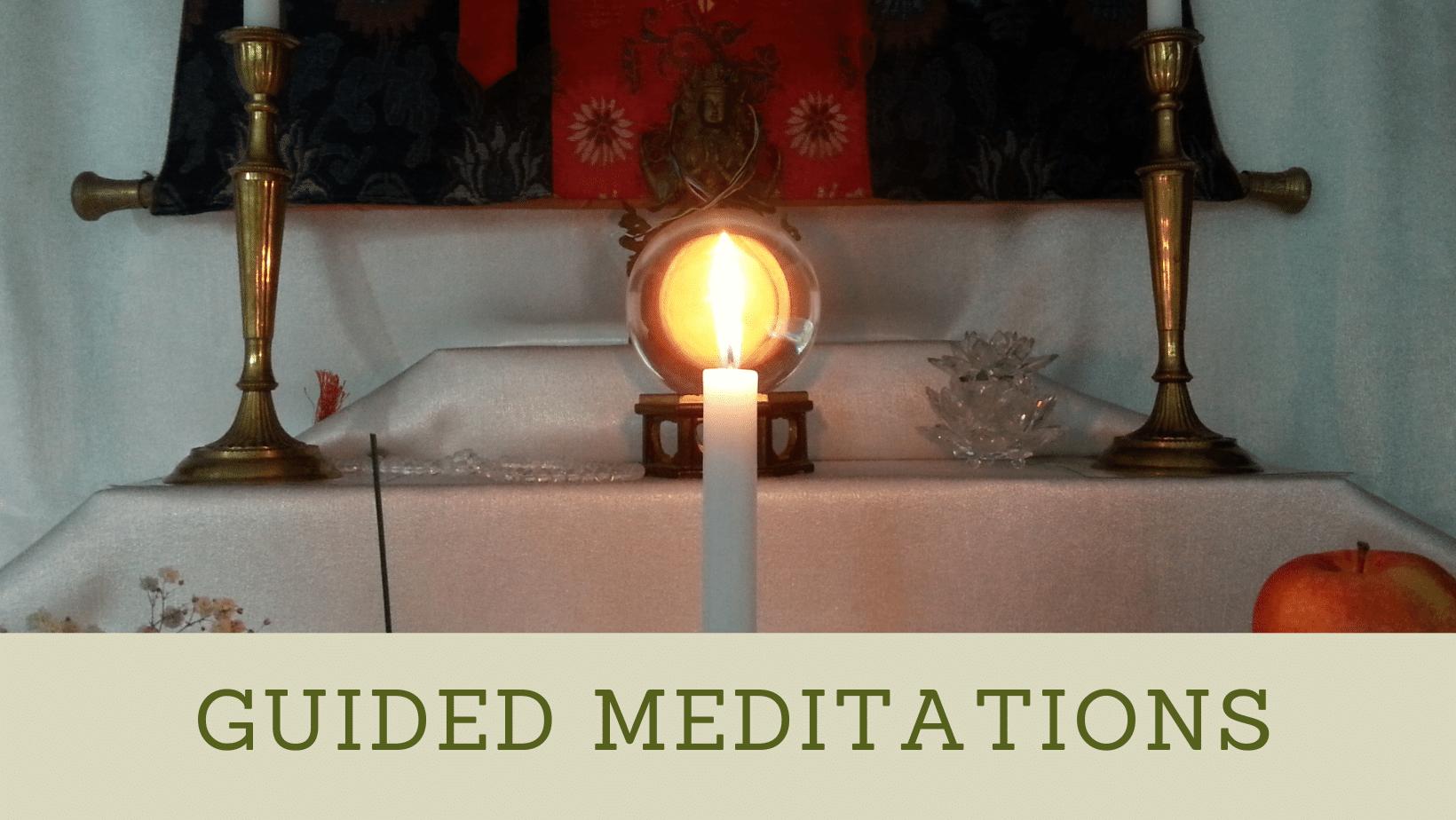 guided meditation banner