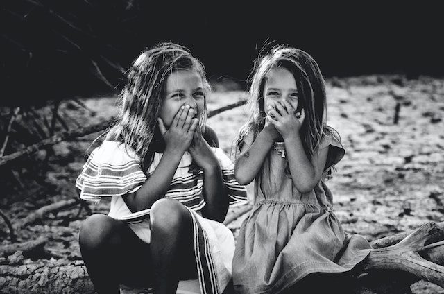 girls giggling
